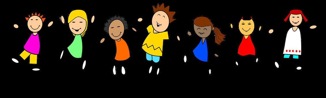 Pogen, Tanz, Sprung, Freude, Kinder