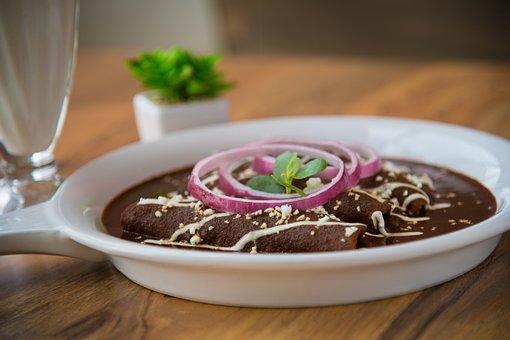 Mexican Food, Enchiladas, Onion, Dinner