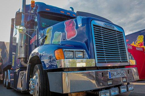 Camión, Freightliner, Publicidad, Haribo