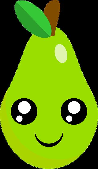 Pear Cute Kawaii Free Vector Graphic On Pixabay