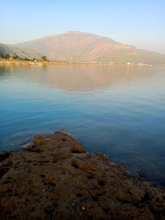 Kanpur, Dam, Water, Pakistan, Mud, Sky, Mountain