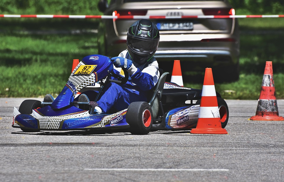 Go-Karting in KF1 Karting Circuit