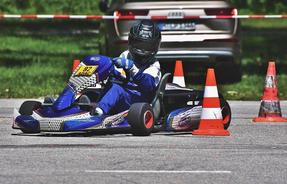 Go-Karting in KF1 Karting Circuit