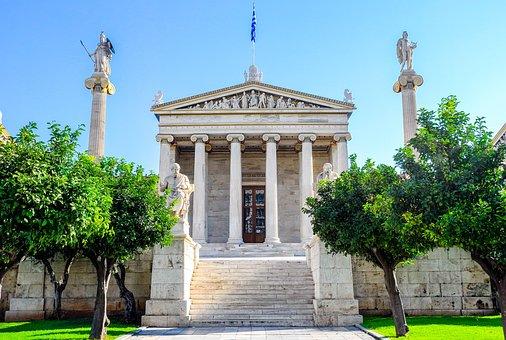 アテネ, ギリシャ, 哲学, 大学, ユニ, 文化, アンティーク, テンプル