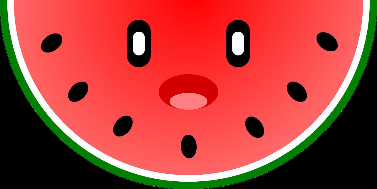 Watermelon Cute Kawaii Free Vector Graphic On Pixabay