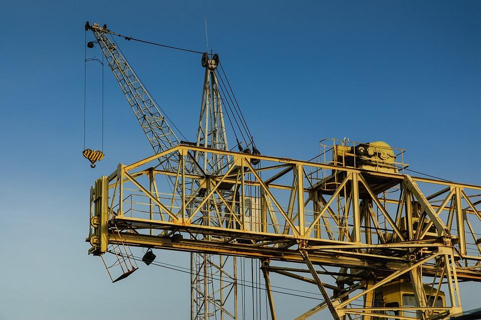 Machinery, Growth, Métal, Ville, Work, Hoisting