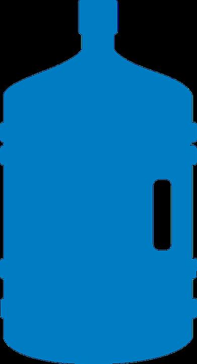 Garrafón, Bidón, Agua, Botella, Plástico, Envase, Azul