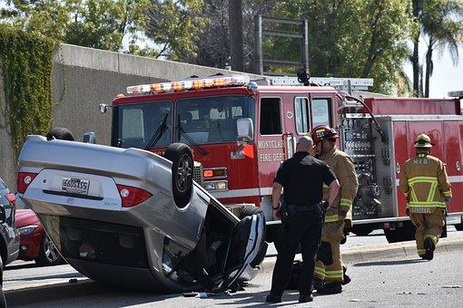 Accident, Car, Firetruck, November 29, 1991 car accident