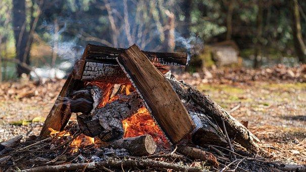 Feu, Camp, Camping, Feu De Camp, Flamme