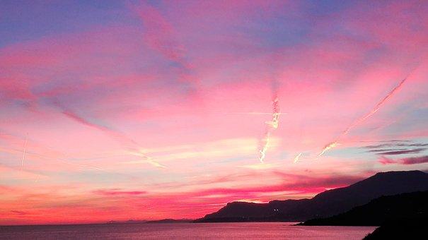 Sunset, Costa, Water, Nature, Sky