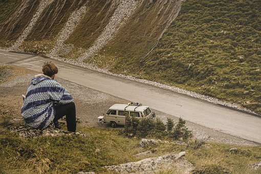 Van, Car, Natur, Brown, Automobil