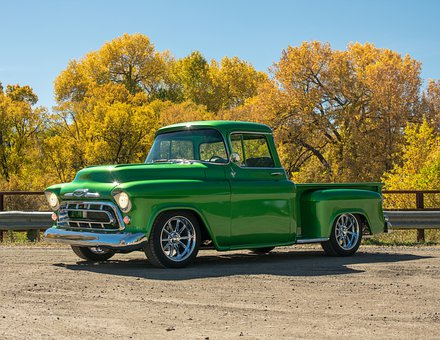 Truck, Old Truck, Fall, Car, Automobile