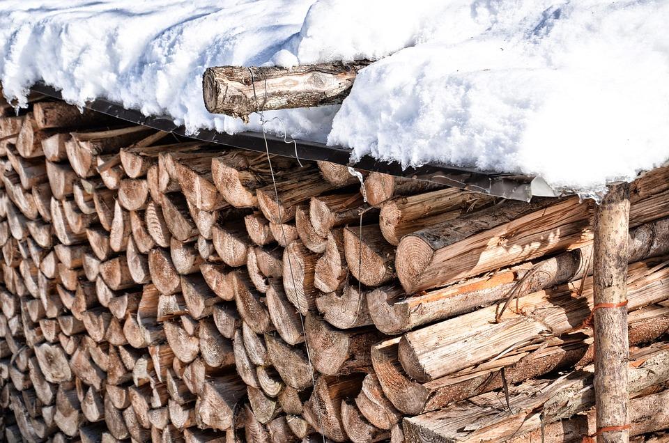 木材, 加熱, 冬, Holzstapel, 雪, エネルギー, 積み重ね, 株式, スタック, ログ