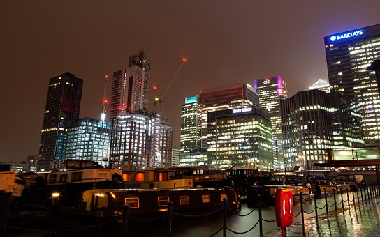 Canary Wharf At Night, Cityscape