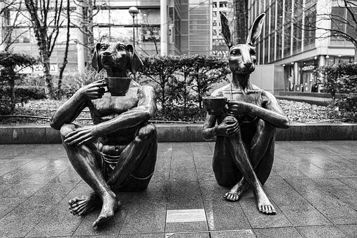 Dogman, Rabbitgirl, Spitalfields, Statue