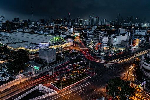 市, バンコク, 泊, 都市景観, ツアー, タイ, 旅行, アーキテクチャ