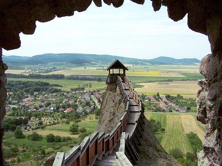 城, ものみの塔, 石の壁, 眺め, パノラマ, 中世