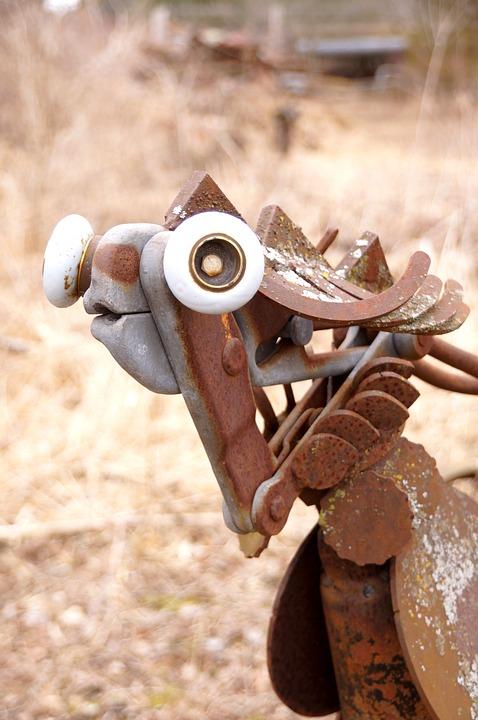 Scrap Metal Art Sculpture Artwork Free Photo On Pixabay