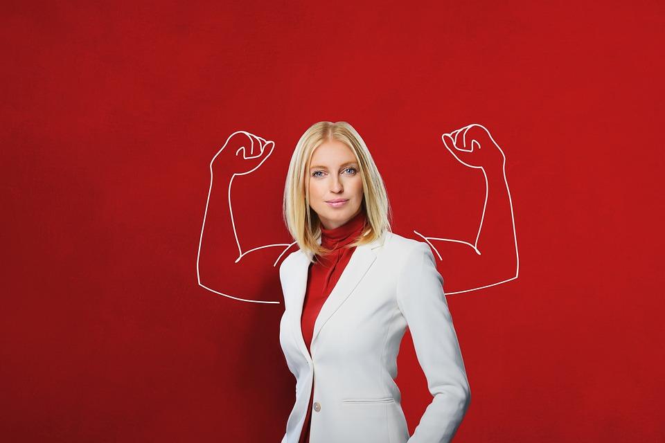 Businesswoman, Concept, Power, Woman, Mature