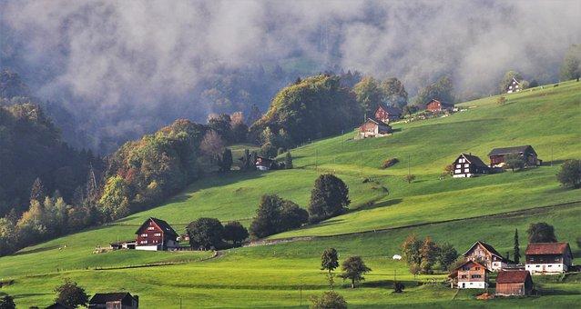 Dawn, Chalupa, Alpy, Vysoká, Ráno