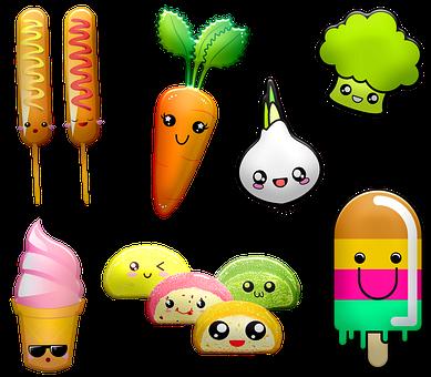 Kawaii Foods, Kawaii Vegetables