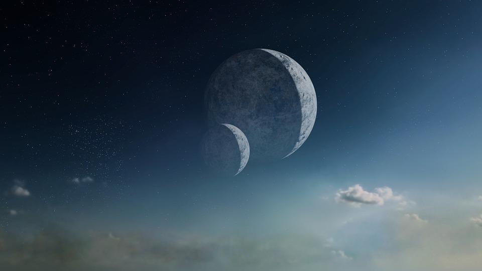 地球外の, 風景, 惑星, スペース, Ufo, 宇宙船, ファンタジー, 未来, 未来の, 空, 月, 宇宙