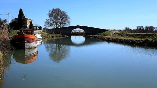 Architecture, Nature, Canal Du Midi