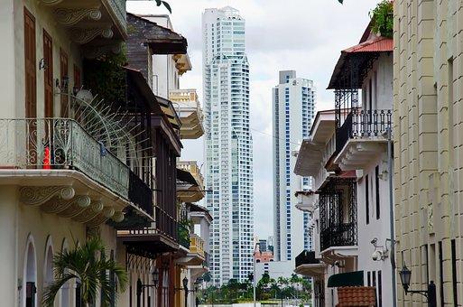 Panama, Panama City, Buildings, Street