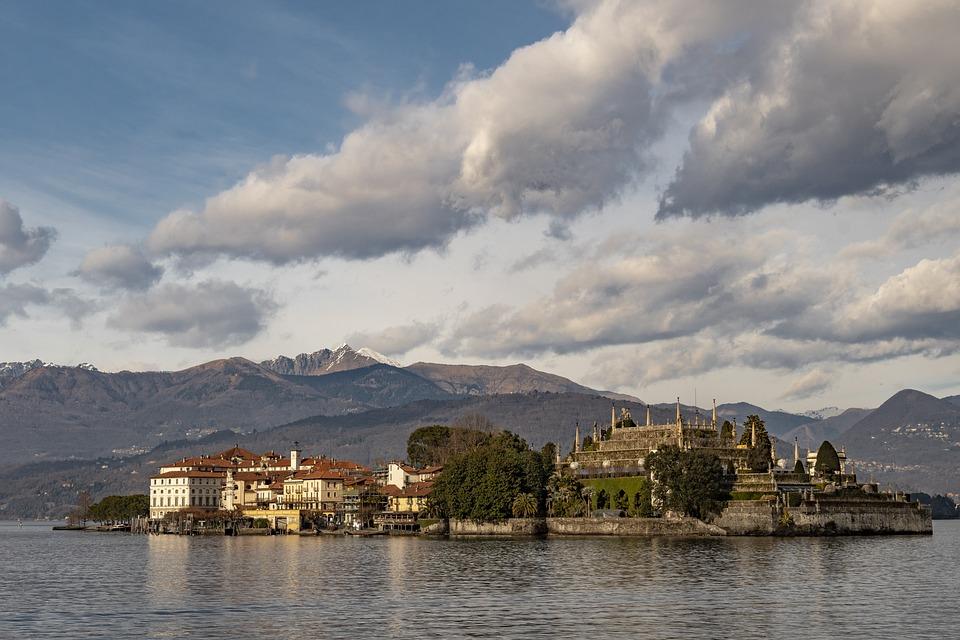 Lago, Maggiore, Isola, Panorama, Stresa, Cielo