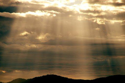 Sky, Clouds, Landscape, Sunset, Beach