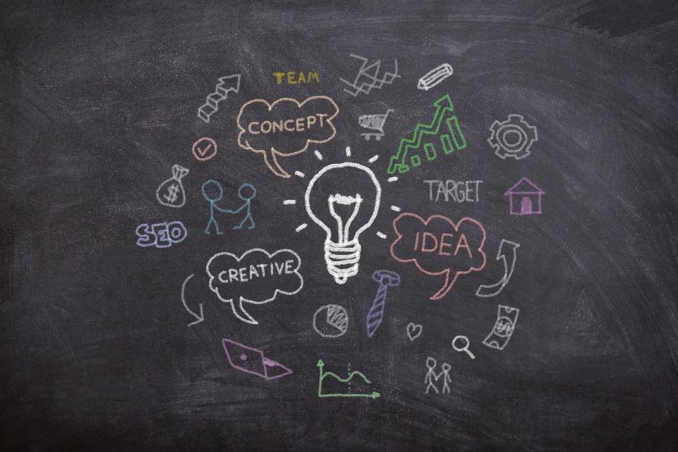 Board, Chalk, Marketing, Idea, Concept, Think