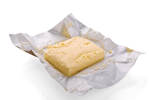 Foil, Dairy, Butter, White, Paper
