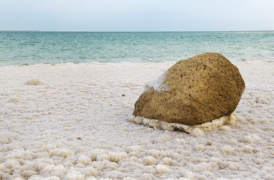 Israele, Mar Morto, Sale, Litorale, Panorama, Blu