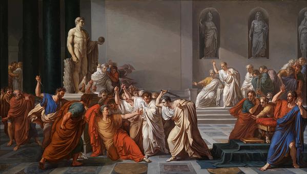 Julius Caesar, Assassination, Painting