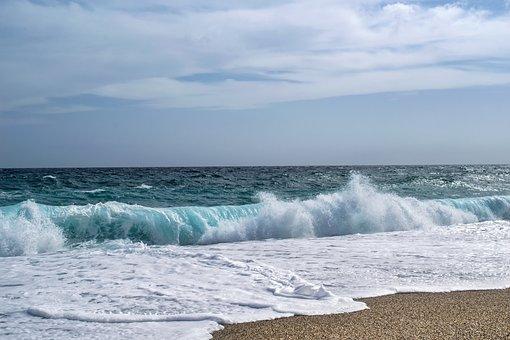 Krajina, Moře, Beach, Vlna, Modrá
