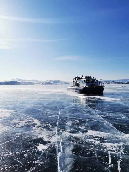Baikal, Russia, Ice, Cold, Lake, Hoover, Bluesky
