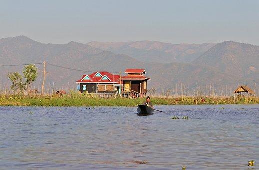 Lake Inle, Stilt, Fisherman, Canoe