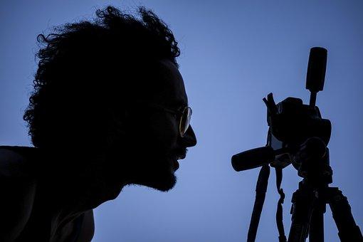 Photographe, Silhouette, Appareil Photo