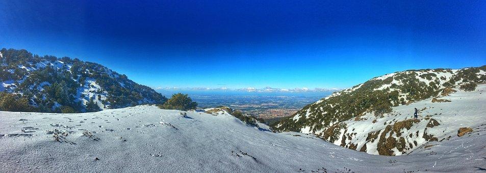 Montain, Snow, Whi, Mountain, Summit