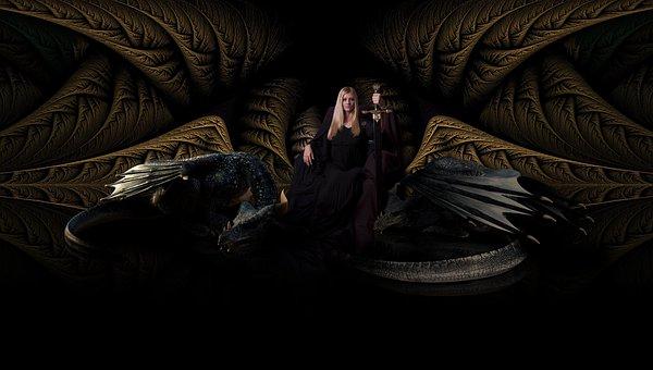 Королева, Драконы, Престол, Королевский