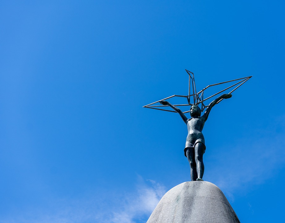 Sky, Bronze Statue, Sculpture, Justice, Goddess, Women
