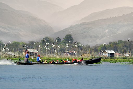 Lake Inle, Burma, Myanmar, Boat, Lake