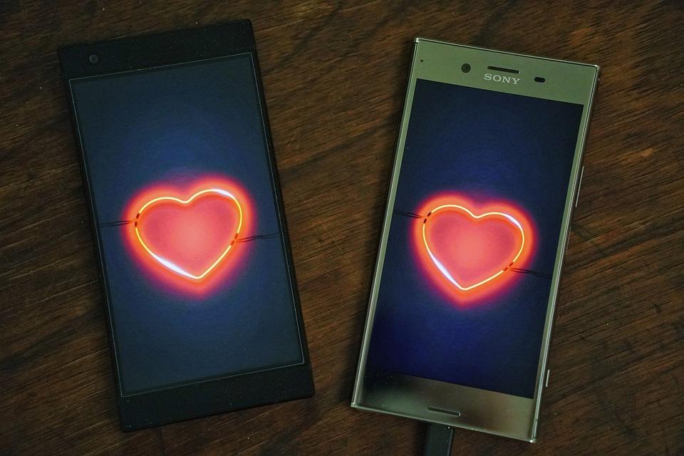 L'Amour, Connexion, Téléphone, Mobile, Datation