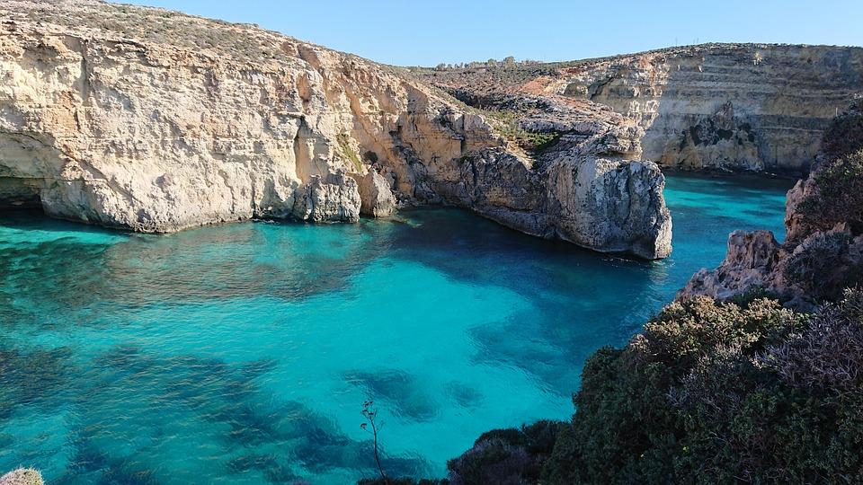 Grotte, Küste, Bucht, Malta