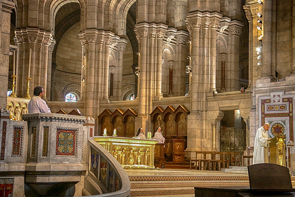 Mass, Priest, Church, Interior, Religion, Cathedral