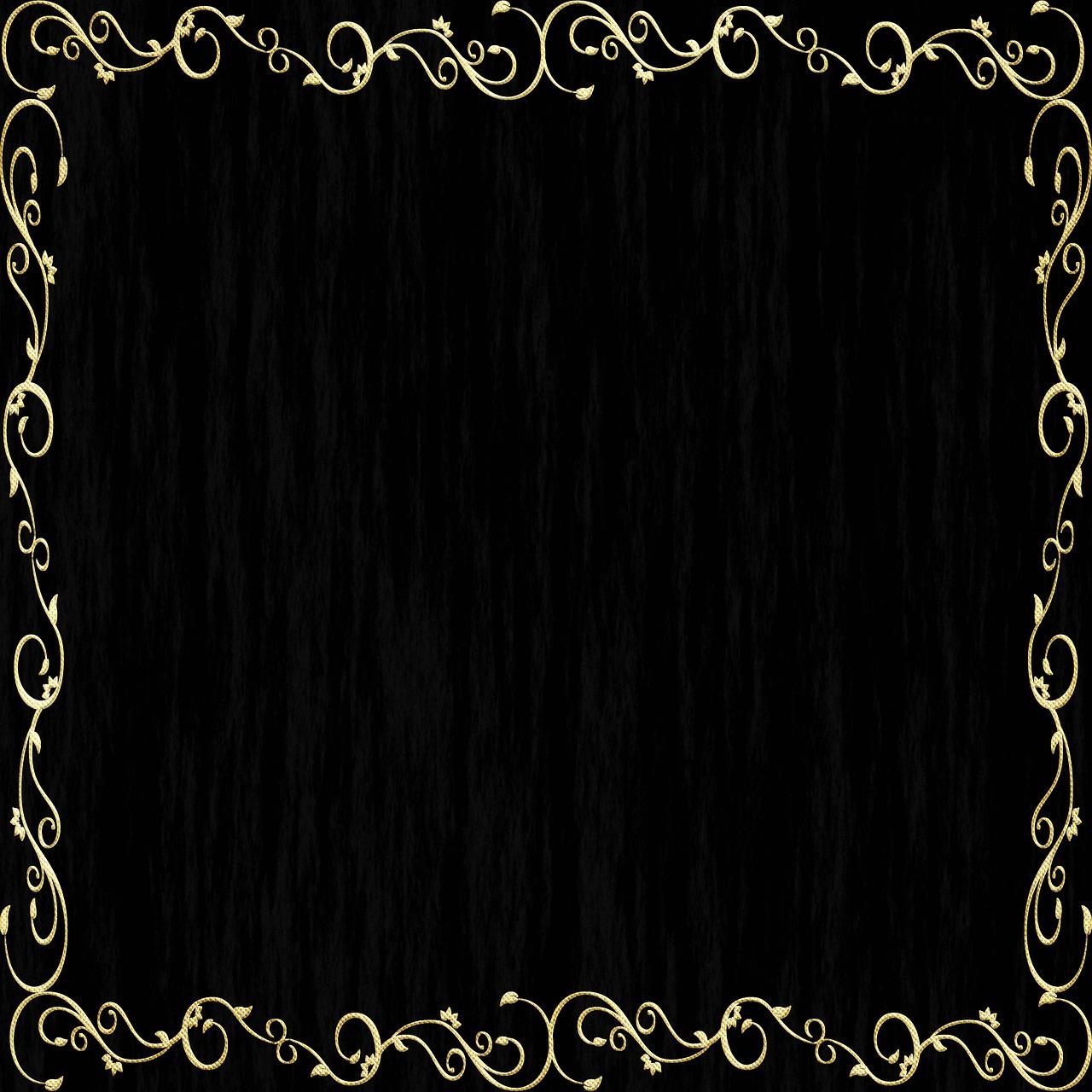 Black Background Floral Leaves Free Image On Pixabay
