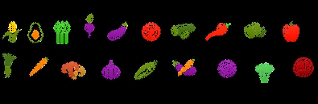 Icone Di Alimenti, Vegetale, Cibo