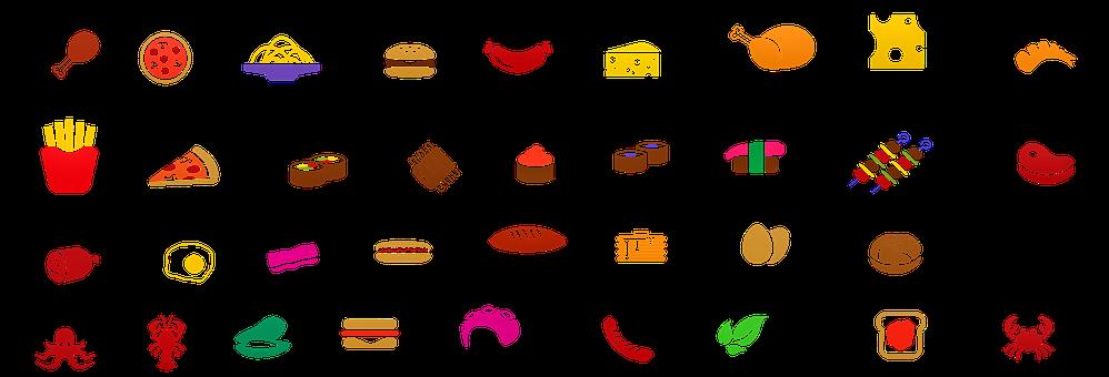 Icone Di Alimenti, Spaghetti, Cibo