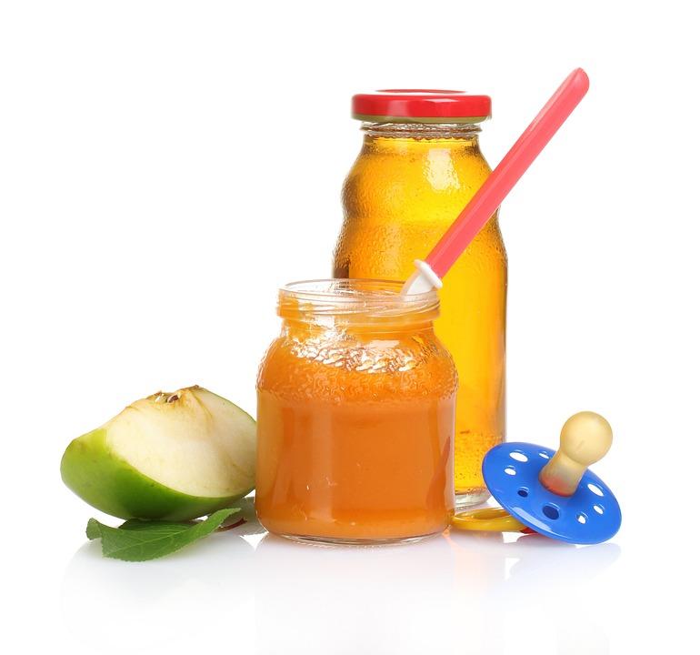 Kind, Voedsel, Vruchten, Fles, Kinderachtig