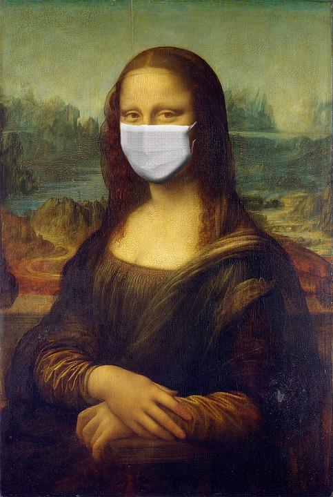 Monalisa, Mona Lisa, Corona, Virus, Coronavirus